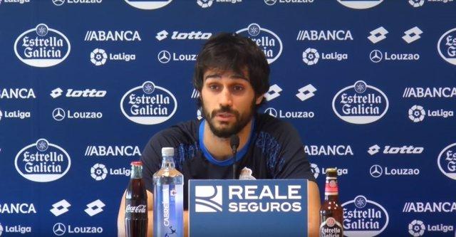 El jugador del RC Deportivo de La Coruña Alejandro Arribas