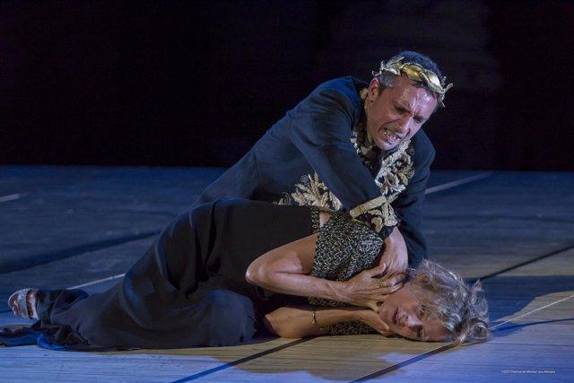 Un pasaje de 'Caligula', en el Teatro Romano de Mérida