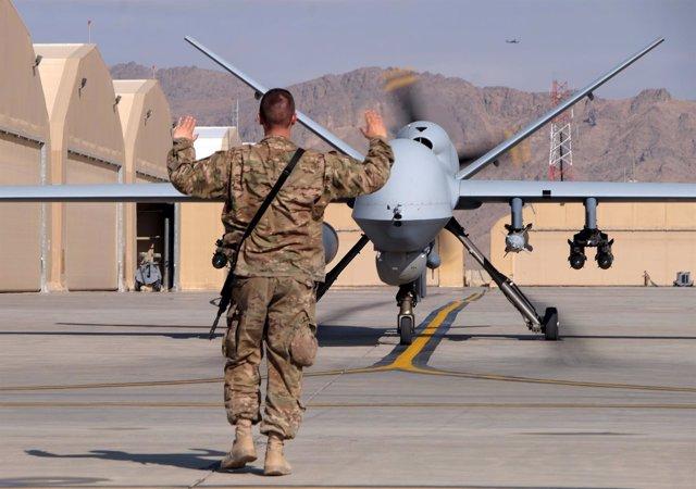 Drone MQ-9 Reaper estadounidense en Afganistán