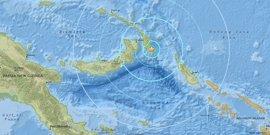 Registrado un terremoto de magnitud 6,7 en la costa de Papúa Nueva Guinea