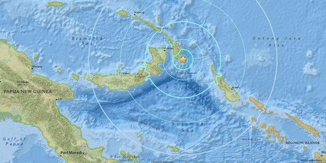 Registrado un terremoto de magnitud 6,7 en Papúa Nueva Guinea