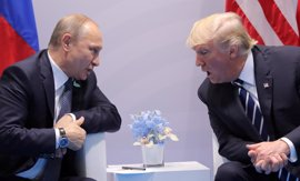 """Trump dice llevarse """"muy bien"""" con Putin aunque cree que a Rusia """"le habría gustado"""" que ganara Clinton"""