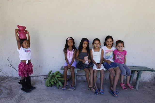 Niñas hondureñas en Tegucigalpa