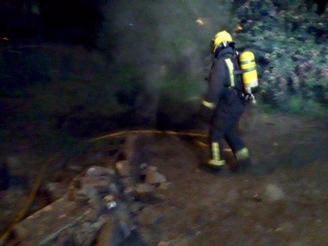 Incendio en un edificio en Marín (Pontevedra).