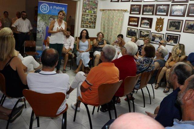Durán en reunión previa al Congreso PP Palma