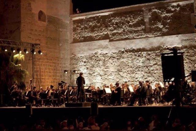 Orquesta durante una de las actuaciones en las Noches de Música y Cine 2016