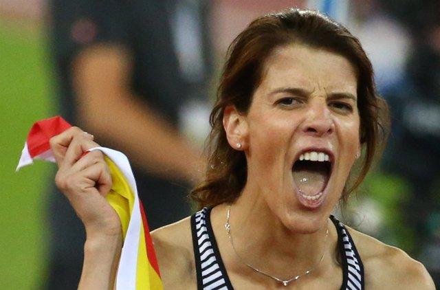 La saltadora española Ruth Beitia