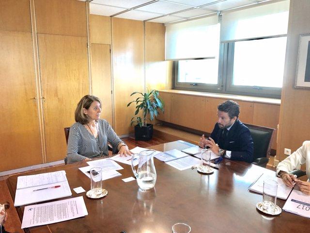 Reunión entre el presidente de Faconauto y la secretaria general de Industria