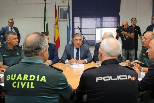 El ministro del Interior, Juan Ignacio Zoido, en La Línea de la Concepción
