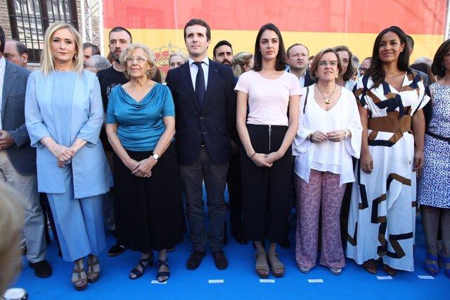 Cifuentes, Carmena, Pablo Casado y Maestre en el homenaje a Miguel Ángel Blanco