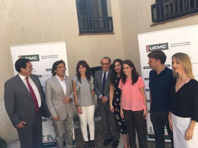 Valladolid.- Levy, junto a ponentes del curso de la UEMC