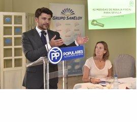 """PP presentará a Espadas un paquete de medidas fiscales para """"ahorrar 25,48 millones de euros"""" a los sevillanos"""