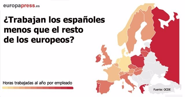 ¿Trabajan Los Espñaoles Menos Que El Resto De Europeos?