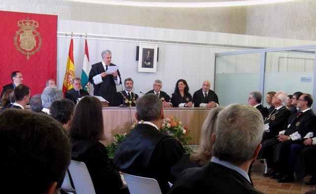 Javier Marca, durante su discurso de toma de posesión