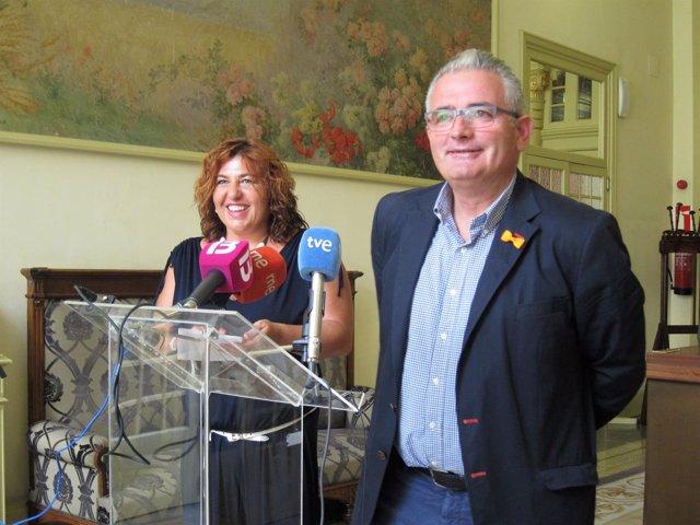 Maria Antònia Sureda y Jaume Font, diputados de El PI