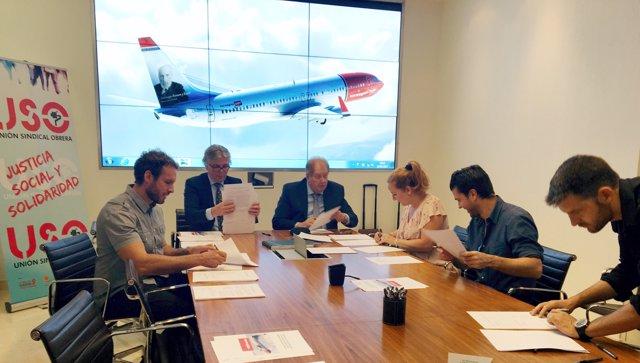 Firma del primer convenio de TCP de Norwegian en España