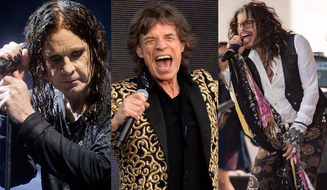 Ozzy Osbourne, Mick Jagger y Steven Tyler