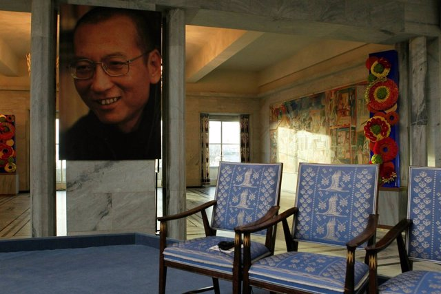 Silla vacía de Liu Xiaobo en la ceremonia del Nobel