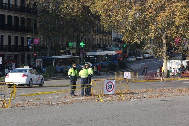 Cortes de tráfico en Atocha en Madrid por Navidad