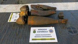 Personal especialista en desactivación de explosivos neutralizan en Melilla cinco proyectiles