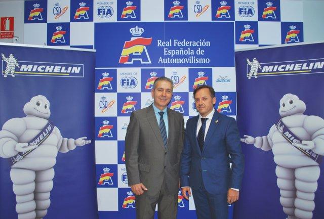 Acuerdo entre Michelin y la Federación Española de Automovilismo