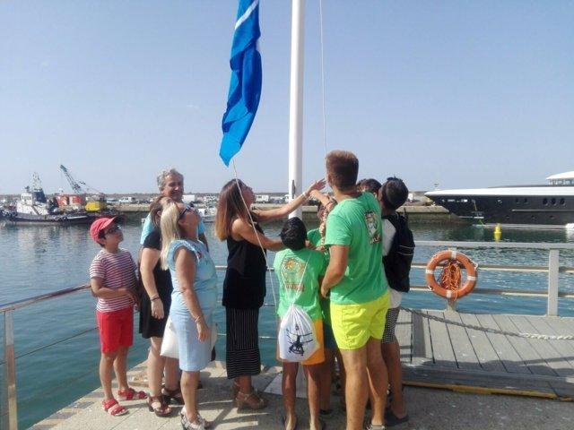 Nota, Foto Y Audio Junta (Izada Bandera Azul Puerto Mazagón)