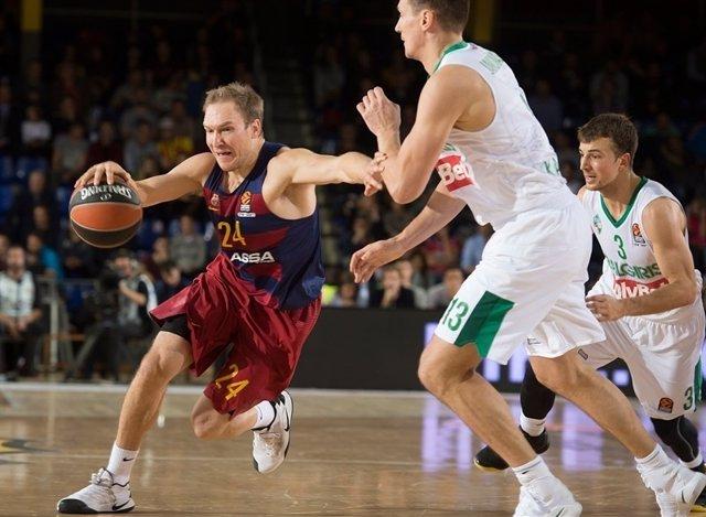 Brad Oleson FC Barcelona Lassa contra Zalgiris Kauna