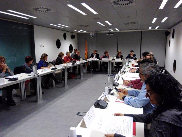 Las conselleras D.Bassa y M.Borras reunidas con entidades (archivo)