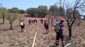 Los bomberos de la Diputación de Teruel (DPT) se forman en extinción de incendios forestales