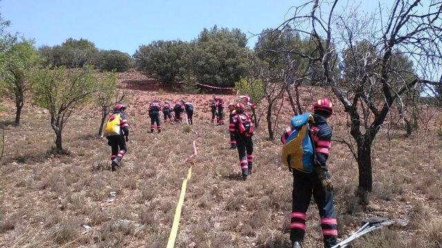 Los bomberos de la DPT han recibido formación esta semana