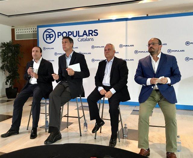 Daniel Serrano, Xavier García Albiol, Santi Rodríguez y Alejandro Fernández, PP