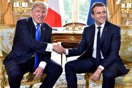 Trump y Macron acuerdan estrechar lazos en cuestiones de seguridad y resolución de conflictos