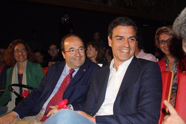 Miquel Iceta y Pedro Sánchez.