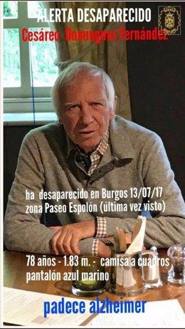 Desaparecido en Burgos un hombre con Alzheimer