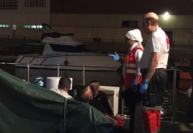 Inmigrantes atendidos por Cruz Roja