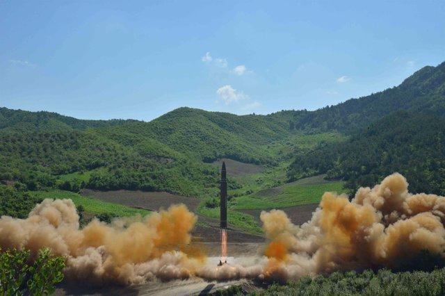 Prueba de un misil balístico intercontinental de Corea del Norte