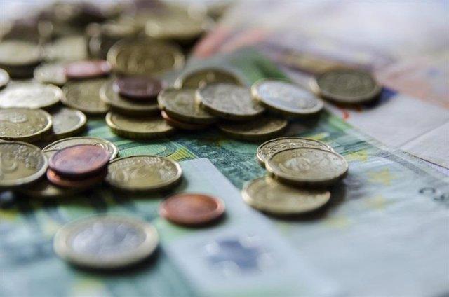 Monedes, euros, bitllets, diners