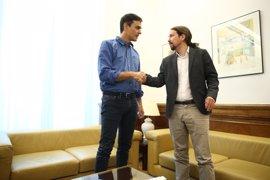 Pedro Sánchez y Pablo Iglesias presidirán el lunes la primera reunión de equipos entre PSOE y Podemos