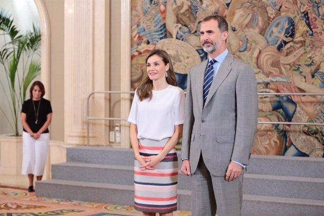 La reina letizia y felipe vi
