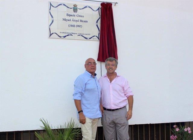 García Urbano y Rojo. Inauguración parque Miguel Ángel Blanco. Estepona