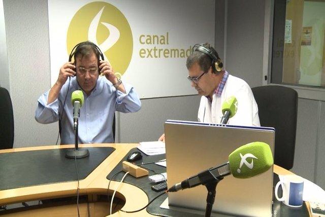 Fernández Vara en entrevista en Canal Extremadura Radio