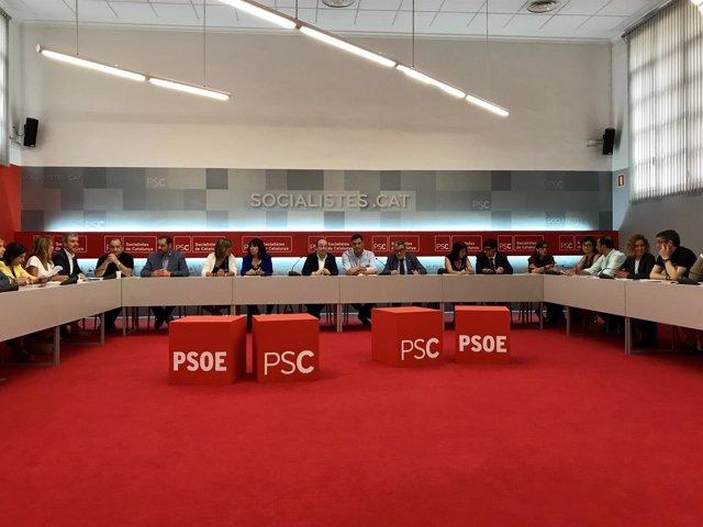 Reunión de las ejecutivas del PSC y PSOE en Barcelona