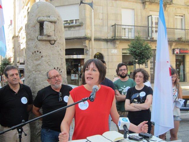 La portavoz nacional del BNG, Ana Pontón, en Vigo.