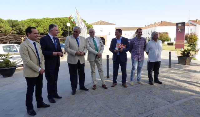 Primer acto de Maldonado como rector de la UNIA en los cursos de verano