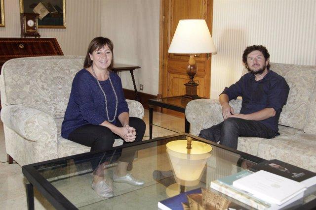 Francina Armengol y Alberto Jarabo