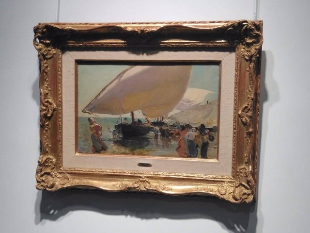 Cuadro, la llegada de las barcas, sorolla, Christie's, subasta