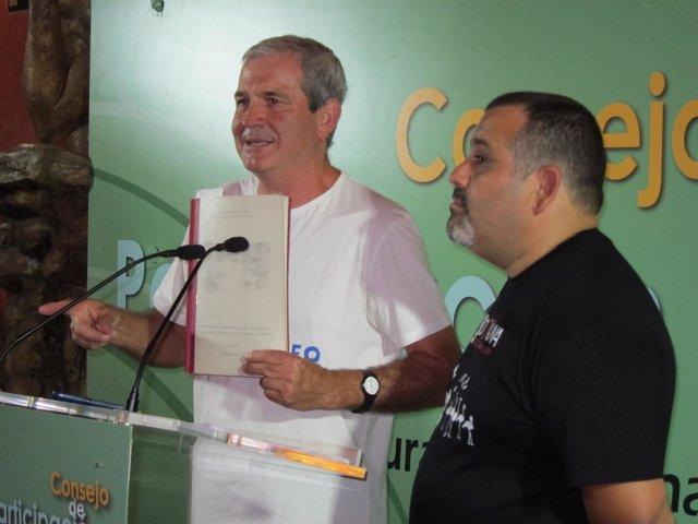 Juan Romero y Juan José Carmona, en declaraciones a los medios.