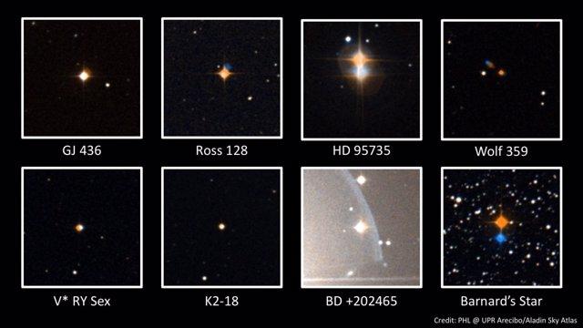 Estrellas observadas desde Arecibo