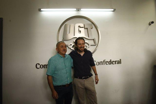 Reunión entre Pepe Álvarez y Pablo Iglesias