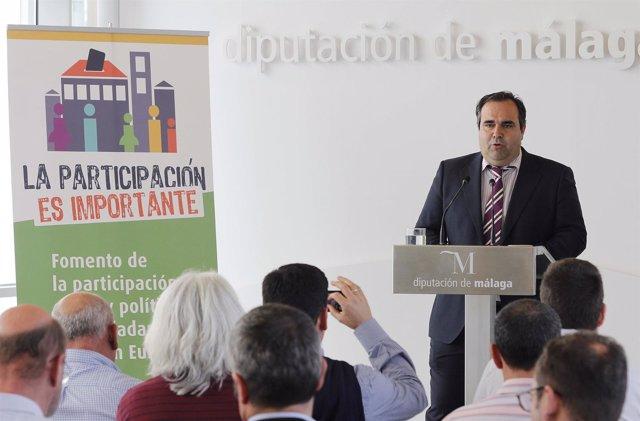 Diputado félix Lozano participación diputación de málaga